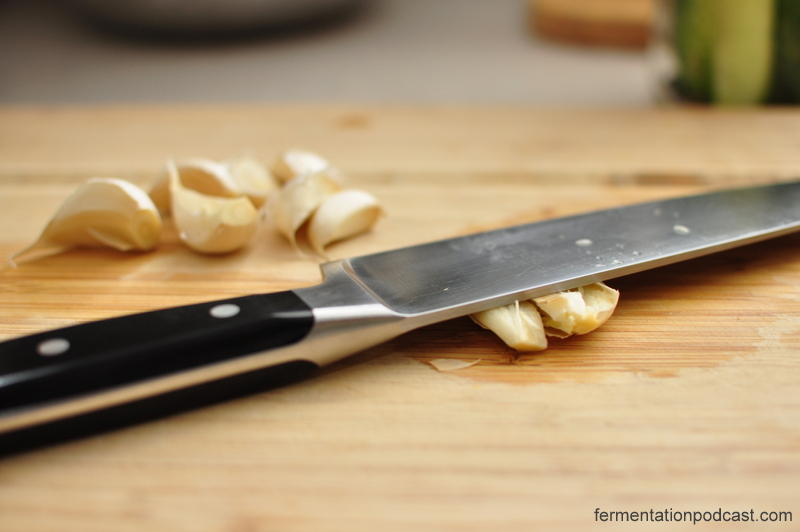 Crushing Garlic with a Knife