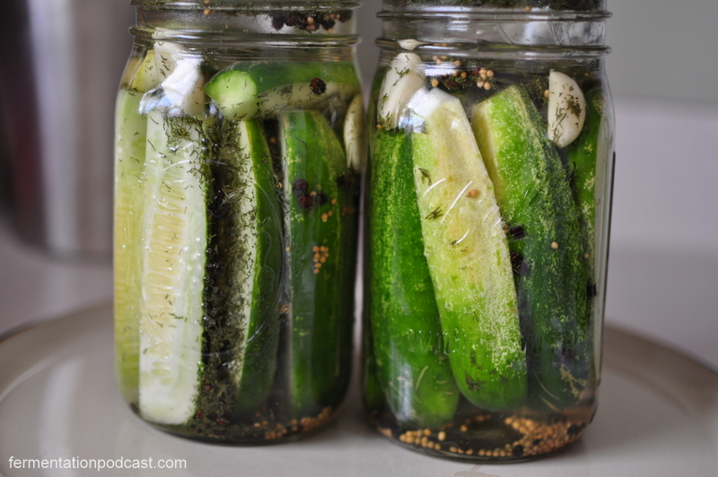 Dill Pickles Initially