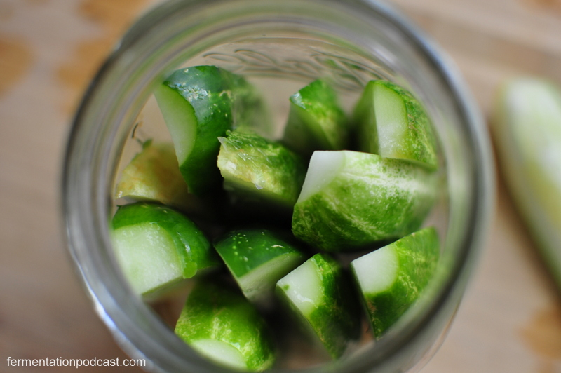 Packing Cukes In a Mason Jar