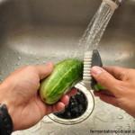 Scrubbing Cucumber