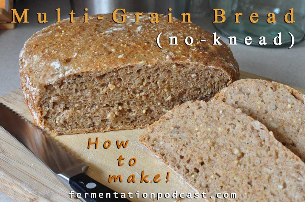 How to make artisan multigrain no-knead bread recipe