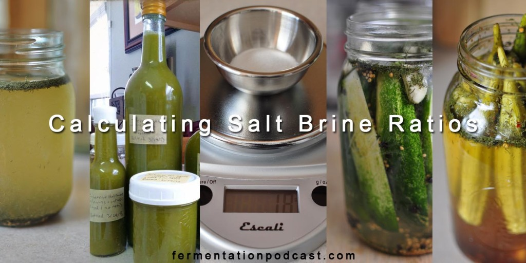 Calculating Salt Brine Ratios for Fermentation Recipes