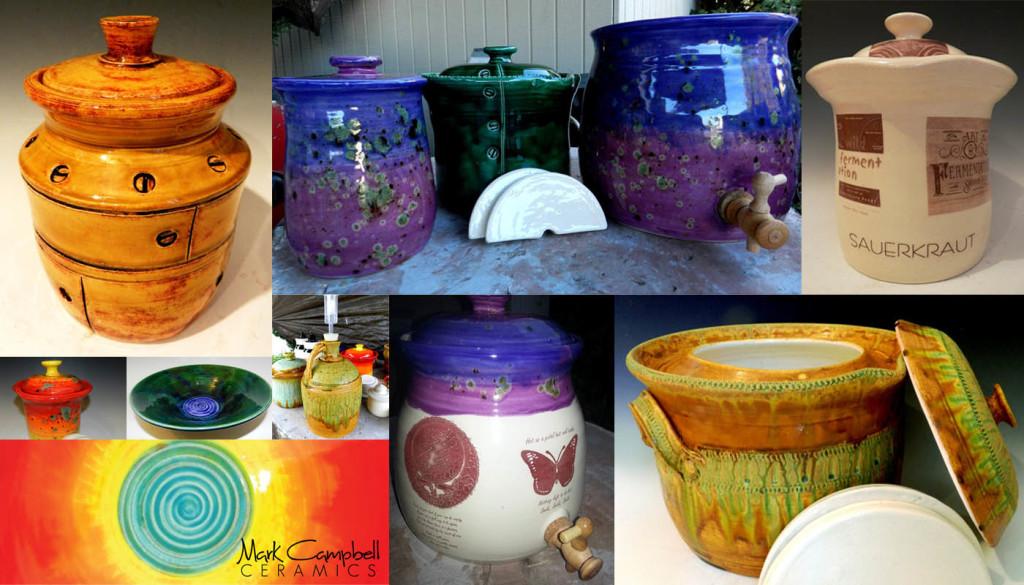 Mark Campbell Ceramics - Fermentation Crocks, Pots, and Vessels
