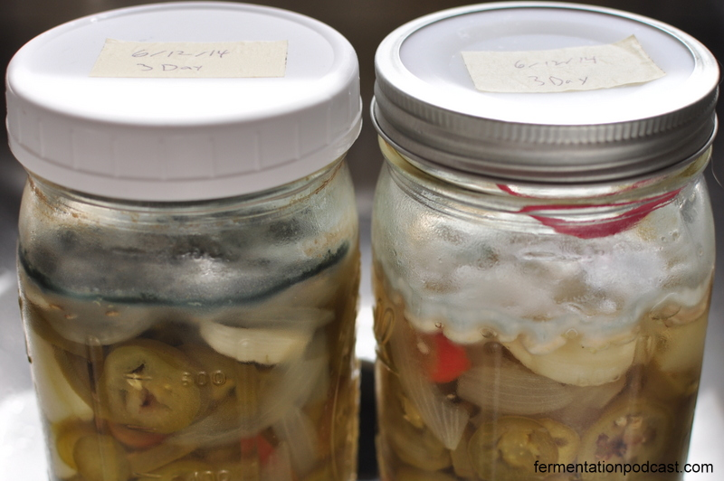 Moldy pickled pepper jars