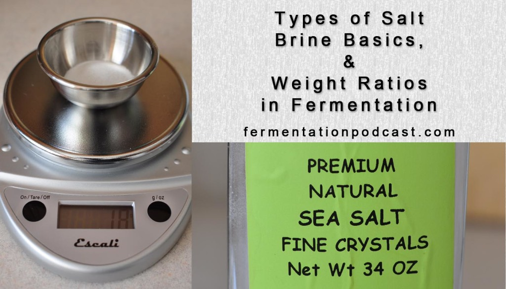 Types of Salt, Brine Basics, and Weight Ratios in Fermentation