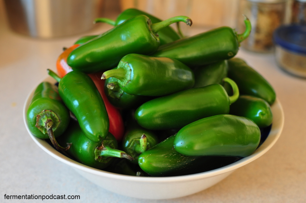 Bowl of jalapeno peppers