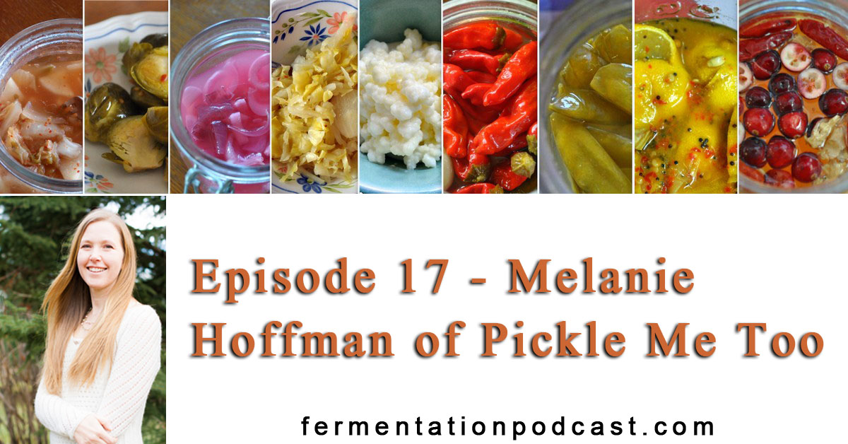 Episode 17 - Melanie Hoffman of Pickle Me Too | The Fermentation Podcast