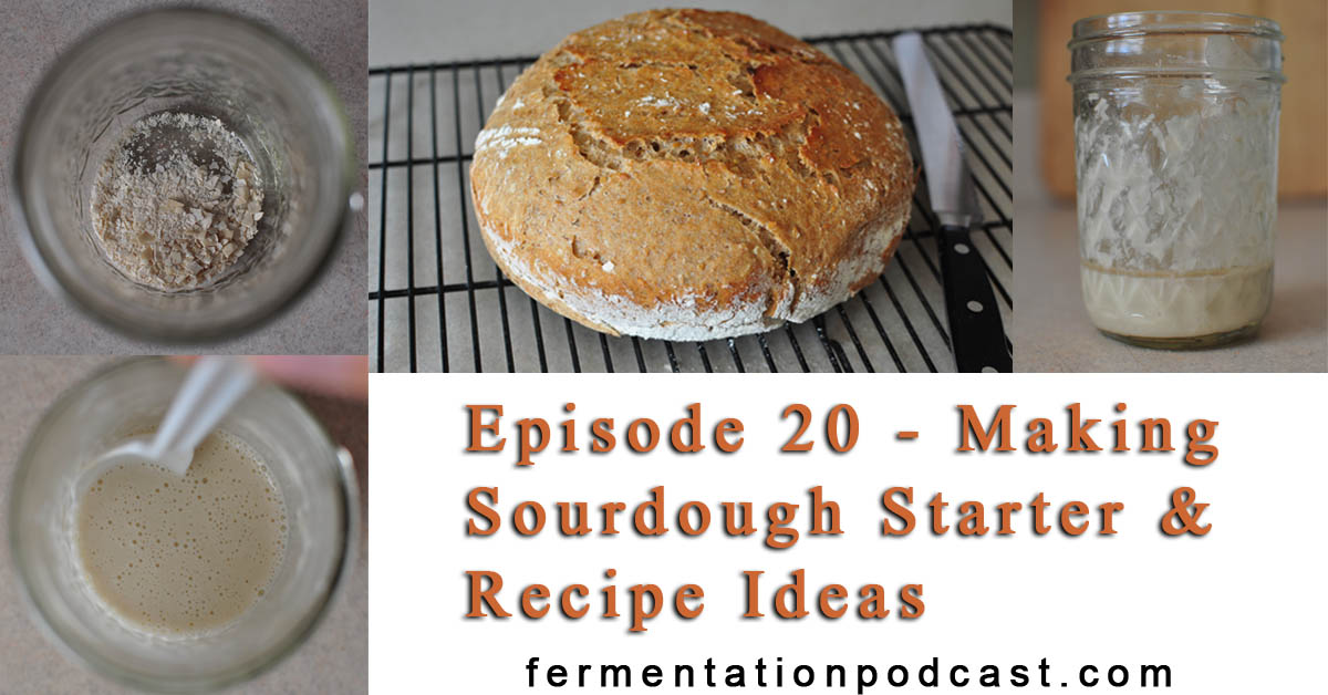 Episode 20 - Making Sourdough Starter & Recipe Ideas